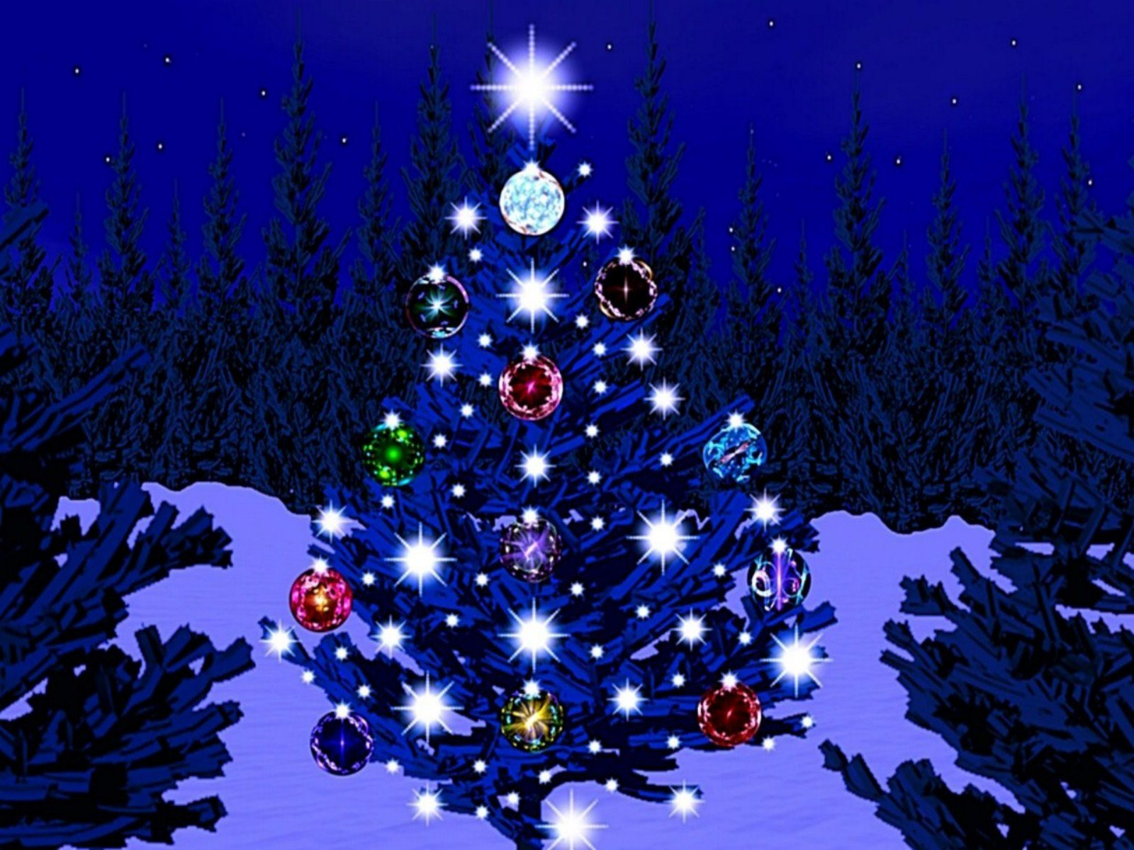 [46+] Blue Christmas Tree Wallpaper On WallpaperSafari