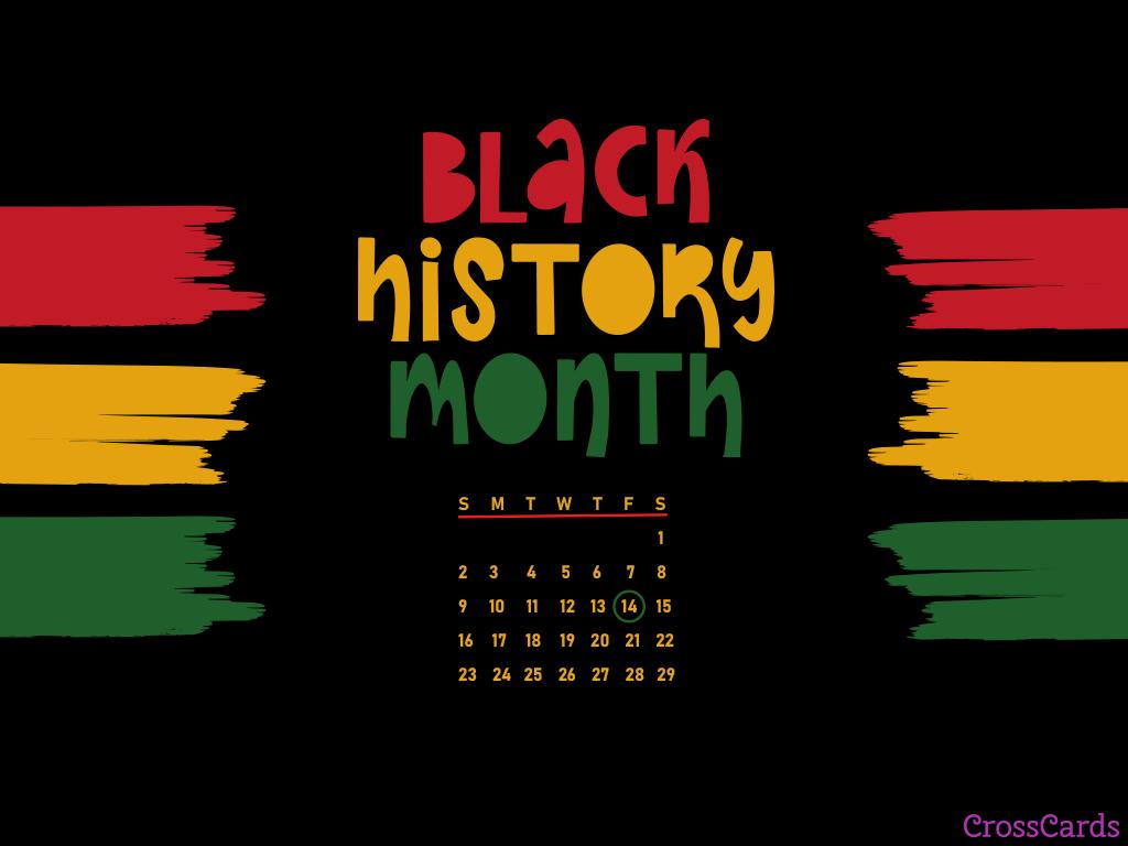 February 2020   Black History Month Desktop Calendar 1024x768
