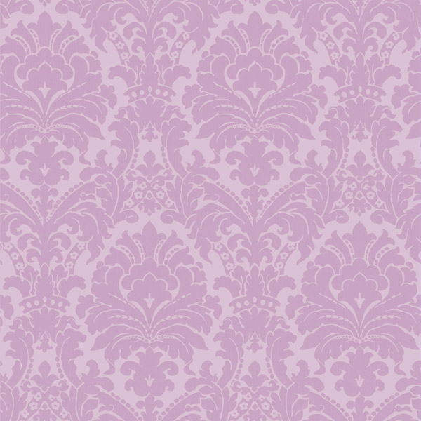 Purple Brocade Damask   Ginger   Girls Rule Wallpaper by Chesapeake 600x600