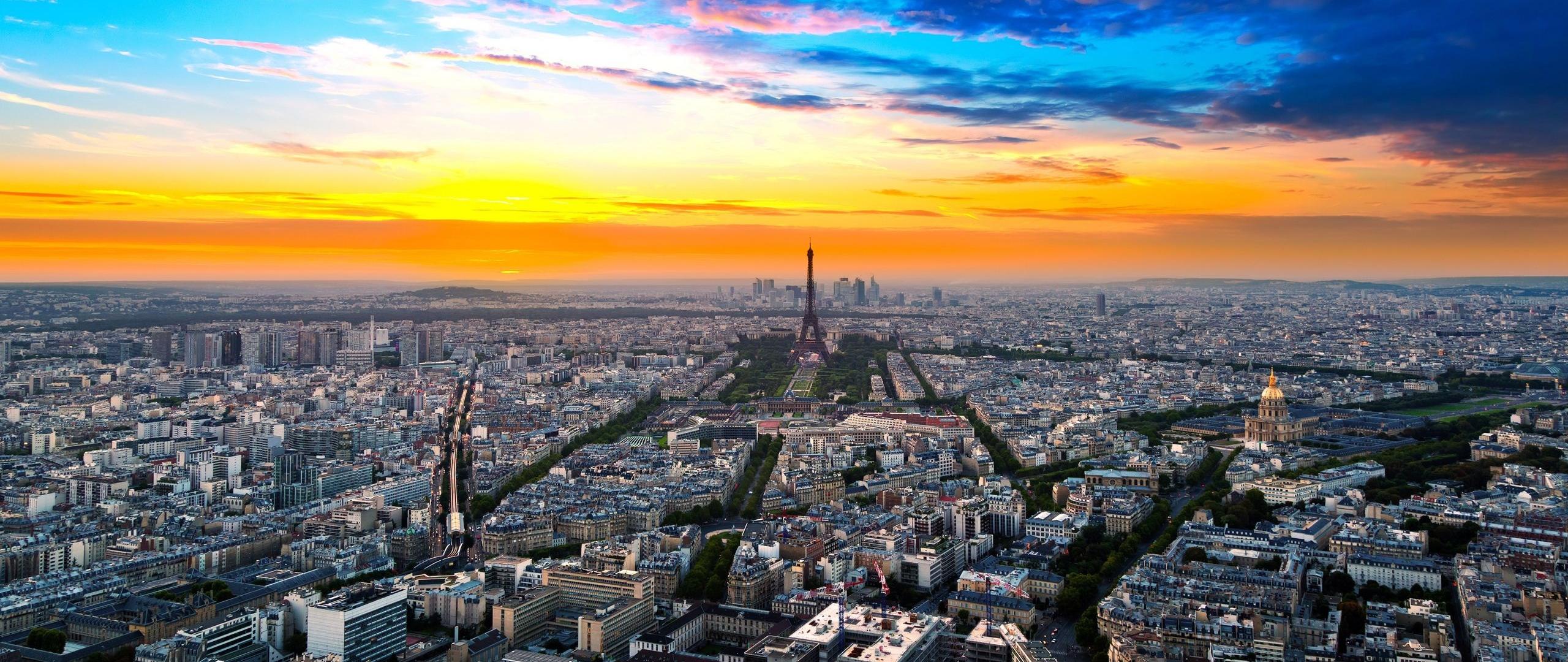 Wallpaper 2560x1080 Paris France Height City Sky 2560x1080 2560x1080