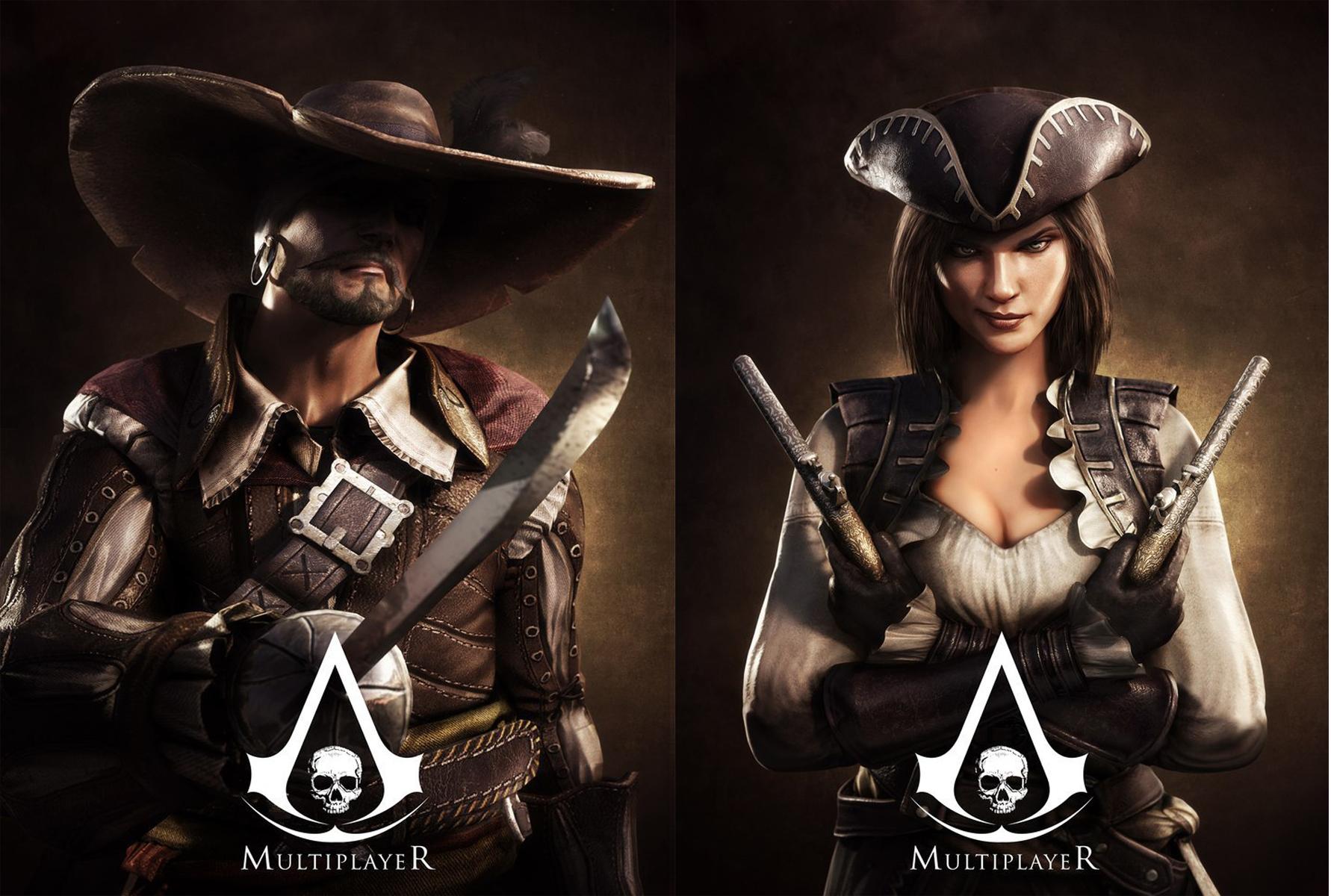 Assassins Creed 4 Multiplayer Femlae wallpaper 1782x1200