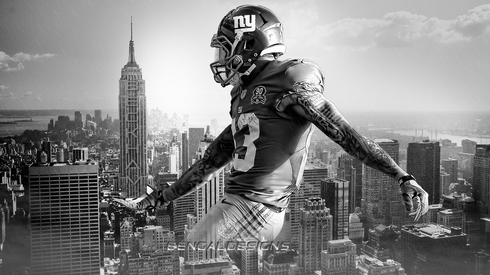 Odell Beckham Jr Empire State Wallpaper by Bengal by bengalbro on 1600x900
