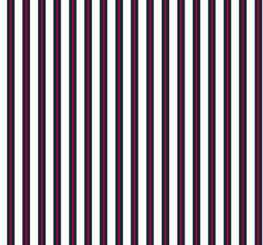 Stripe Wallpaper An off white wallpaper with a smart navy and red 534x499