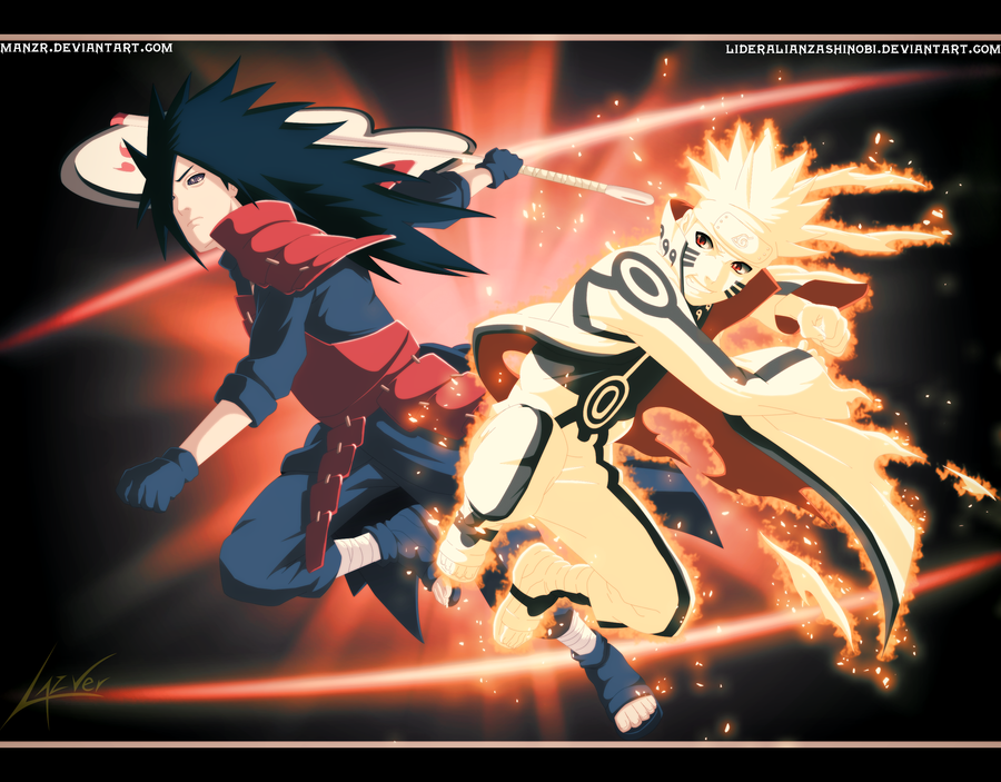 Epic Battle Madara Uchiha vs Naruto Uzumaki by LiderAlianzaShinobi on 900x703