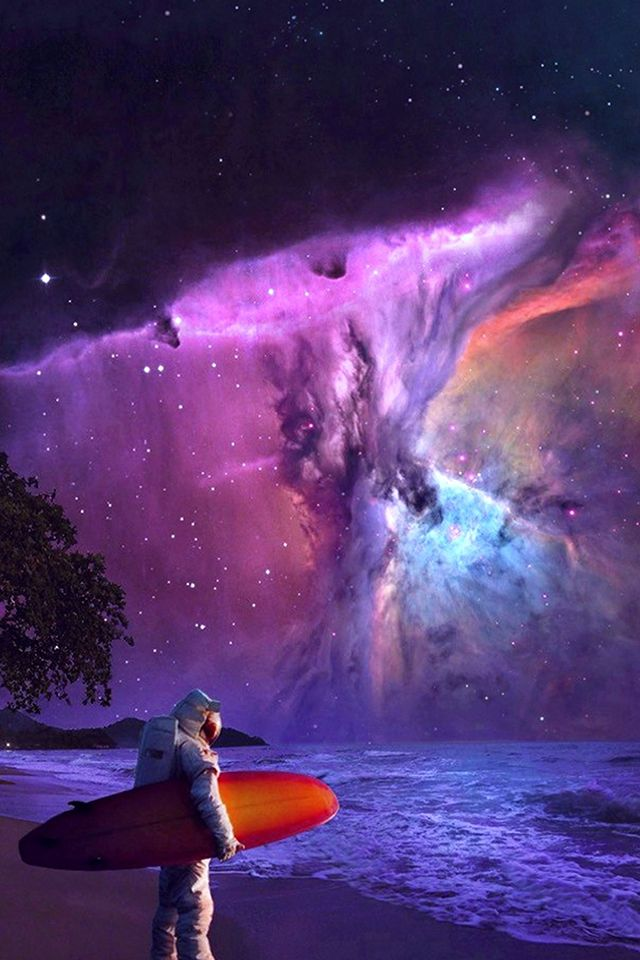 Space Surf Wallpaper universe space surfing iphone wallpaper 640x960