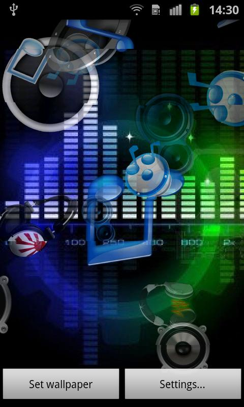Music Sound Live Wallpaper   Android Apps on Google Play 480x800