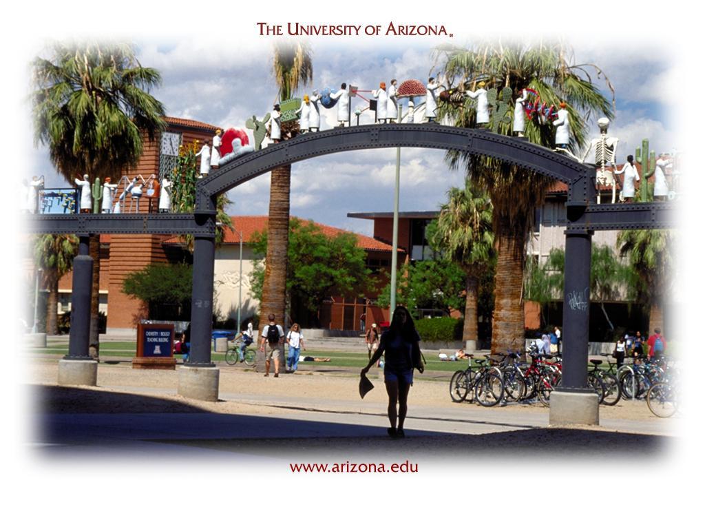 University of Arizona Twenty Five Scientists Gateway Wallpaper and 1024x768