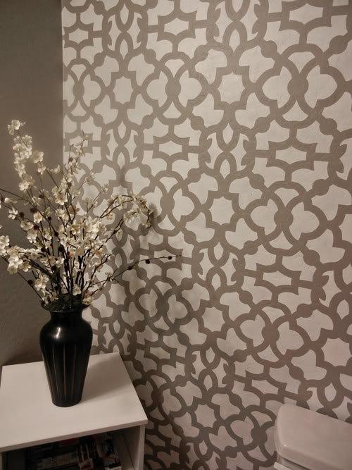 Moroccan Stencil Zamira   Large   Reusable Wall stencil patterns 500x667