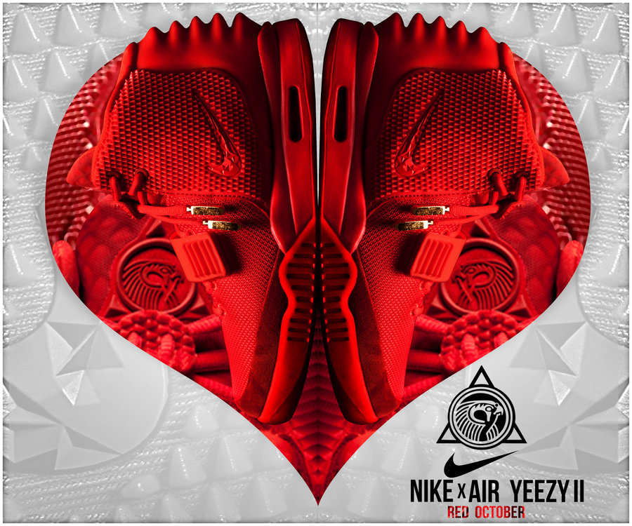 air yeezy love red october by outlawsarankan fan art wallpaper 900x750