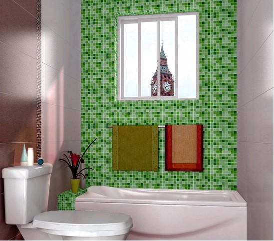 Waterproof wallpaper for bathroom decorativepvc mosaic wallpaper wall 549x483