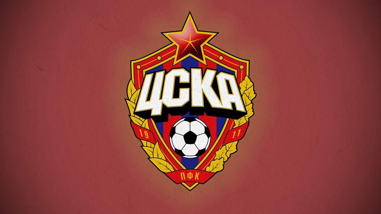 PFC CSKA Moscow Football Club Logo Wallpaper   Wallpaper Stream 1600x900
