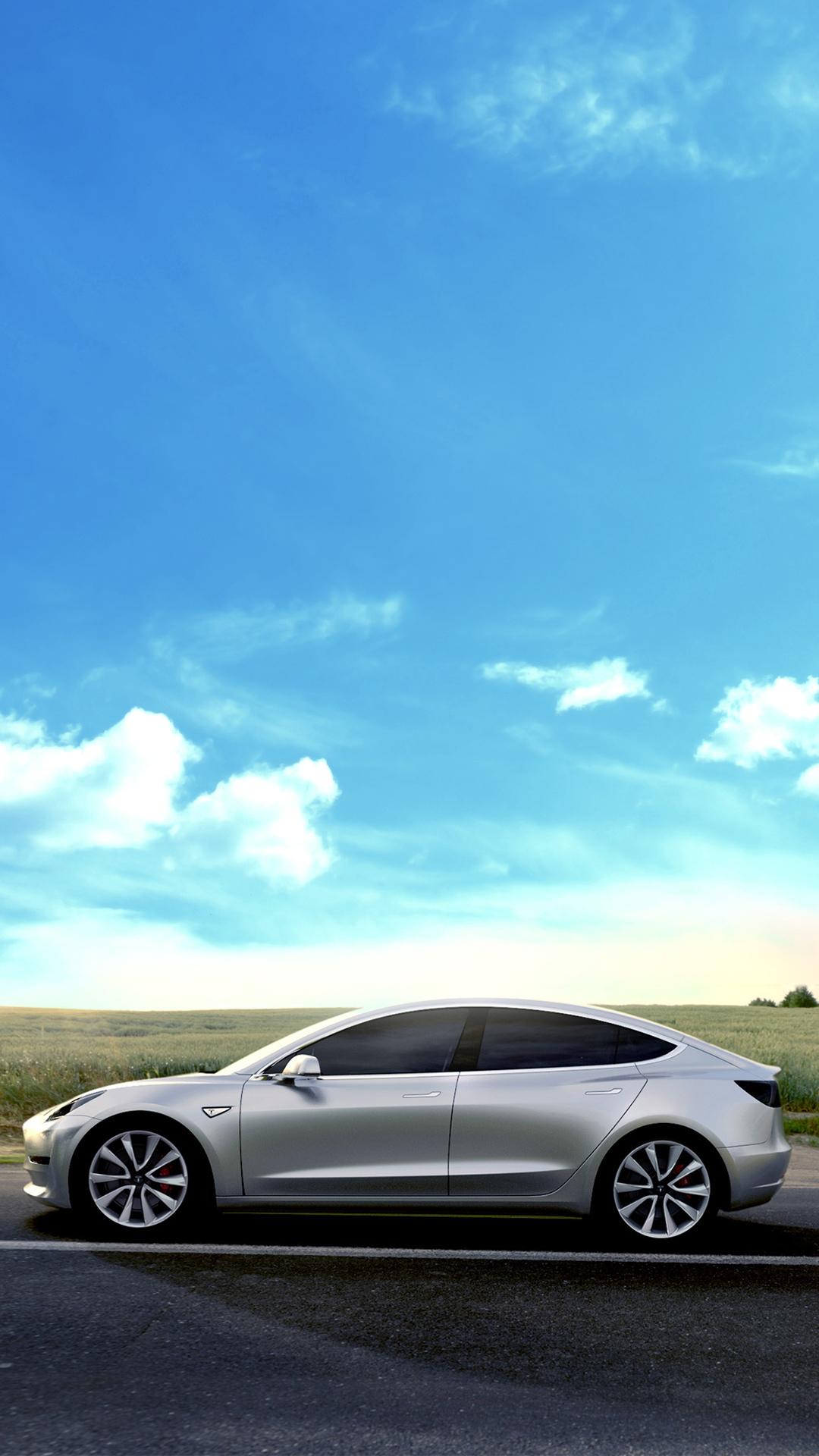 Tesla model 3 wallpaper wallpapersafari - Tesla wallpaper android ...