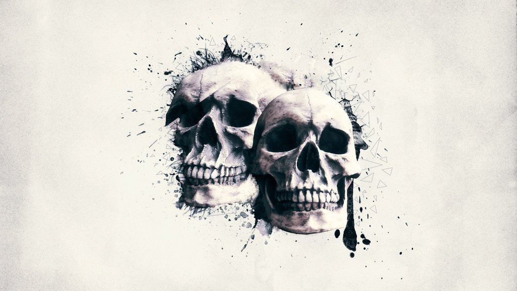 Wallpaper   Skull Wall by Digital5media on deviantART 1024x576