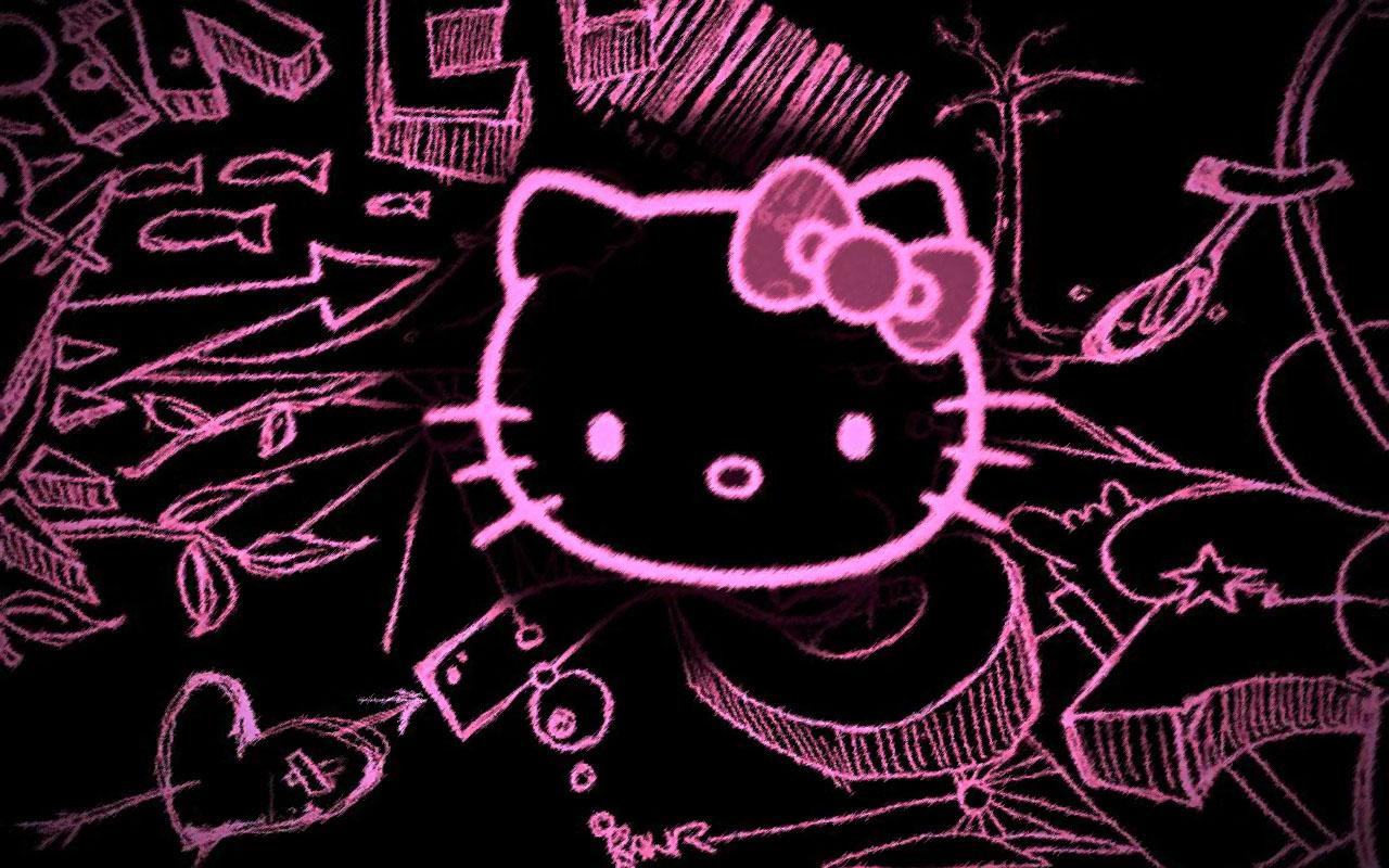 76+] Hello Kitty Black And Pink Wallpaper on WallpaperSafari