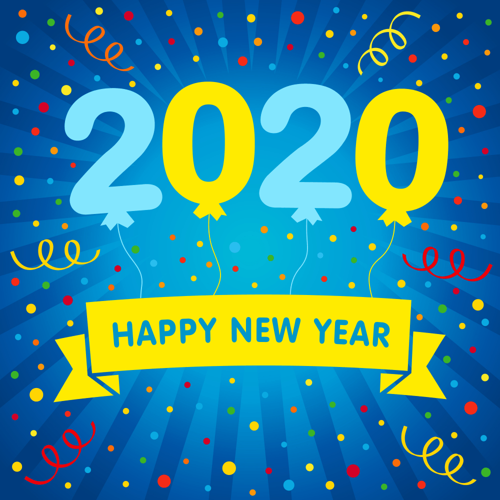 Happy New Year 2020 Images HD Wallpapers Advance Wishes 1000x1000