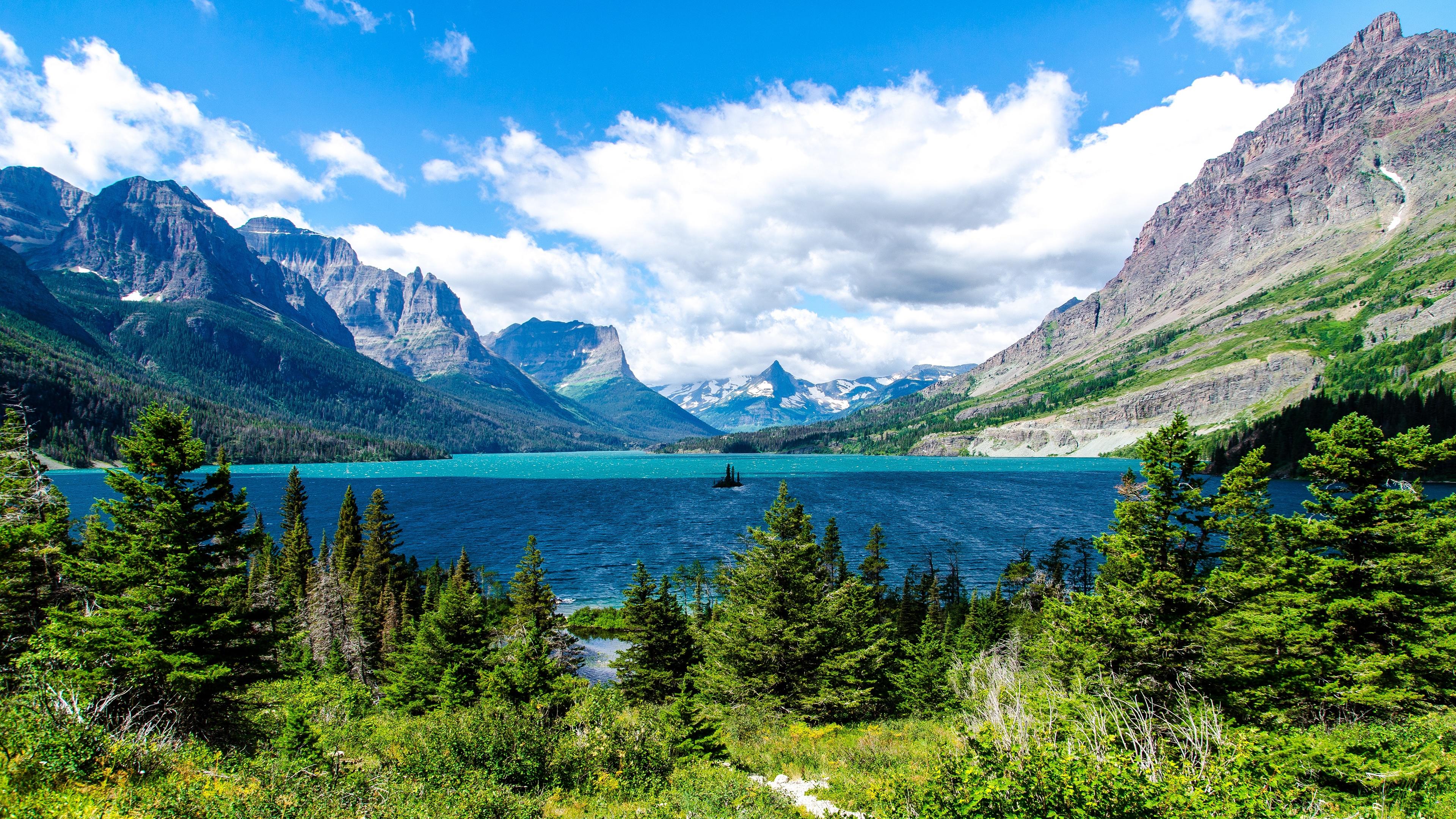 Saint Mary Lake Glacier National Park Wallpapers HD Wallpapers 3840x2160