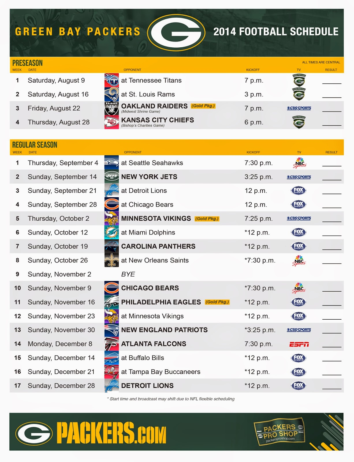 picture about Green Bay Packers Printable Schedule named Obtain PACKERVILLE United states of america 2014 Timetable Unveiled [1226x1600