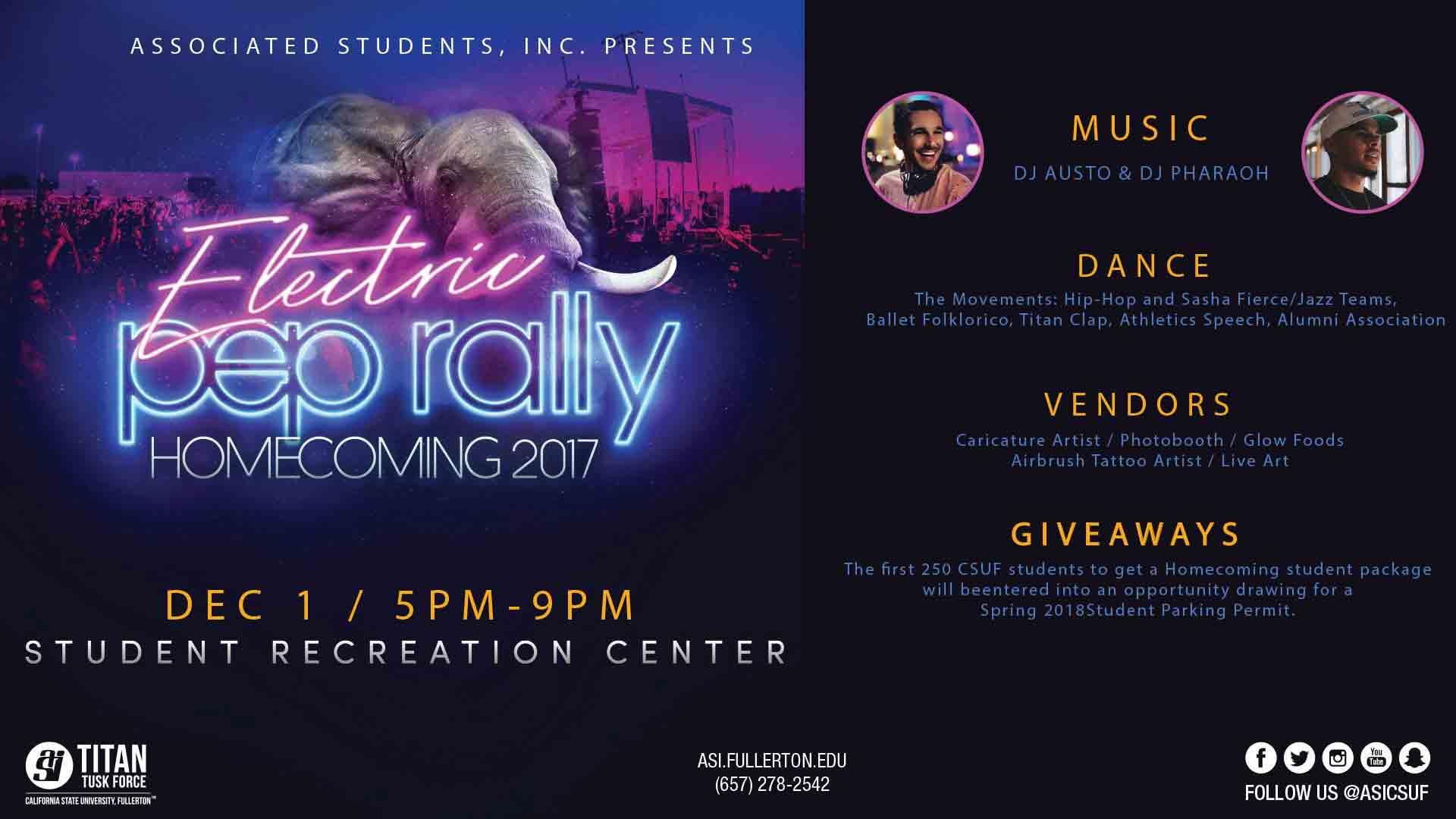 CSUF Homecoming pep rally promises students EDC vibes 1920x1080