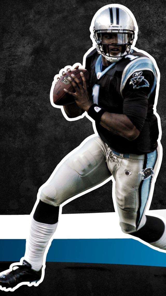 Carolina Panthers Quarterback Cam Newton Wallpaper for iPhone 5 640x1136