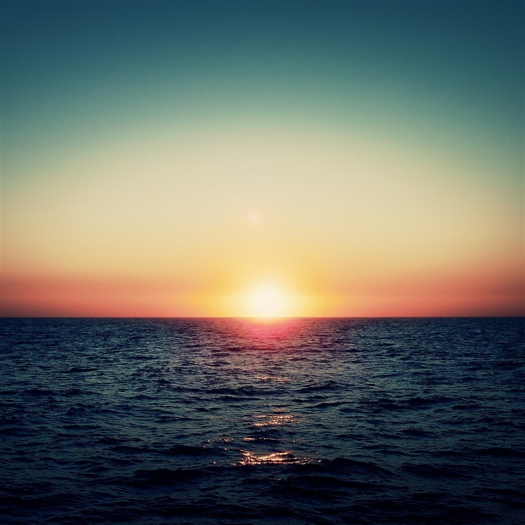 Ocean Sunset Wallpaper Images Pictures   Becuo 1024x1024