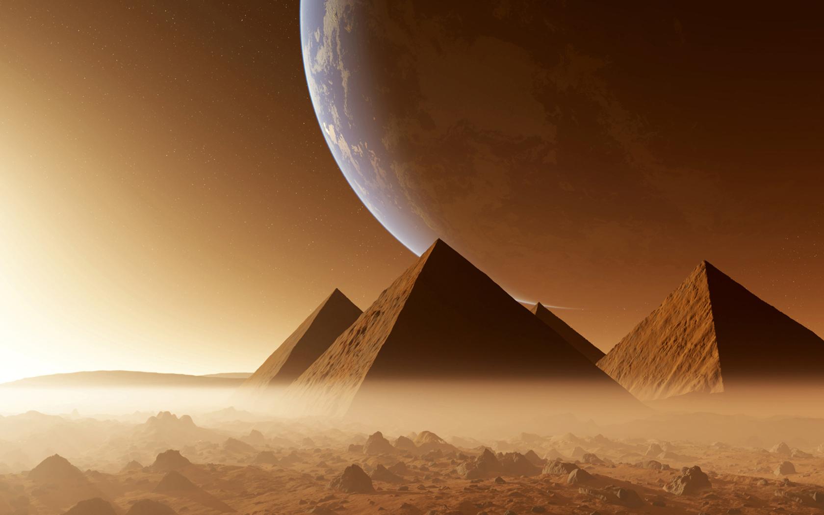 The Egyptian pyramids scenery wallpaper Desktop Background Scenery 1680x1050