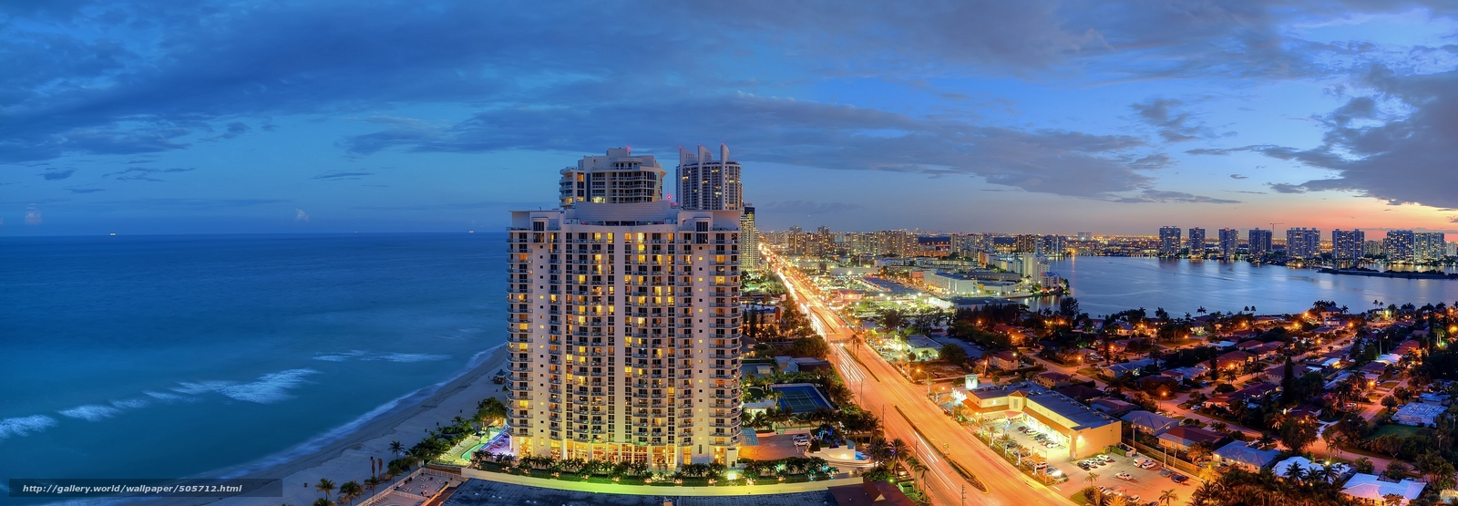 Download wallpaper sunny isles beach miami florida Sunny Isles 1600x555