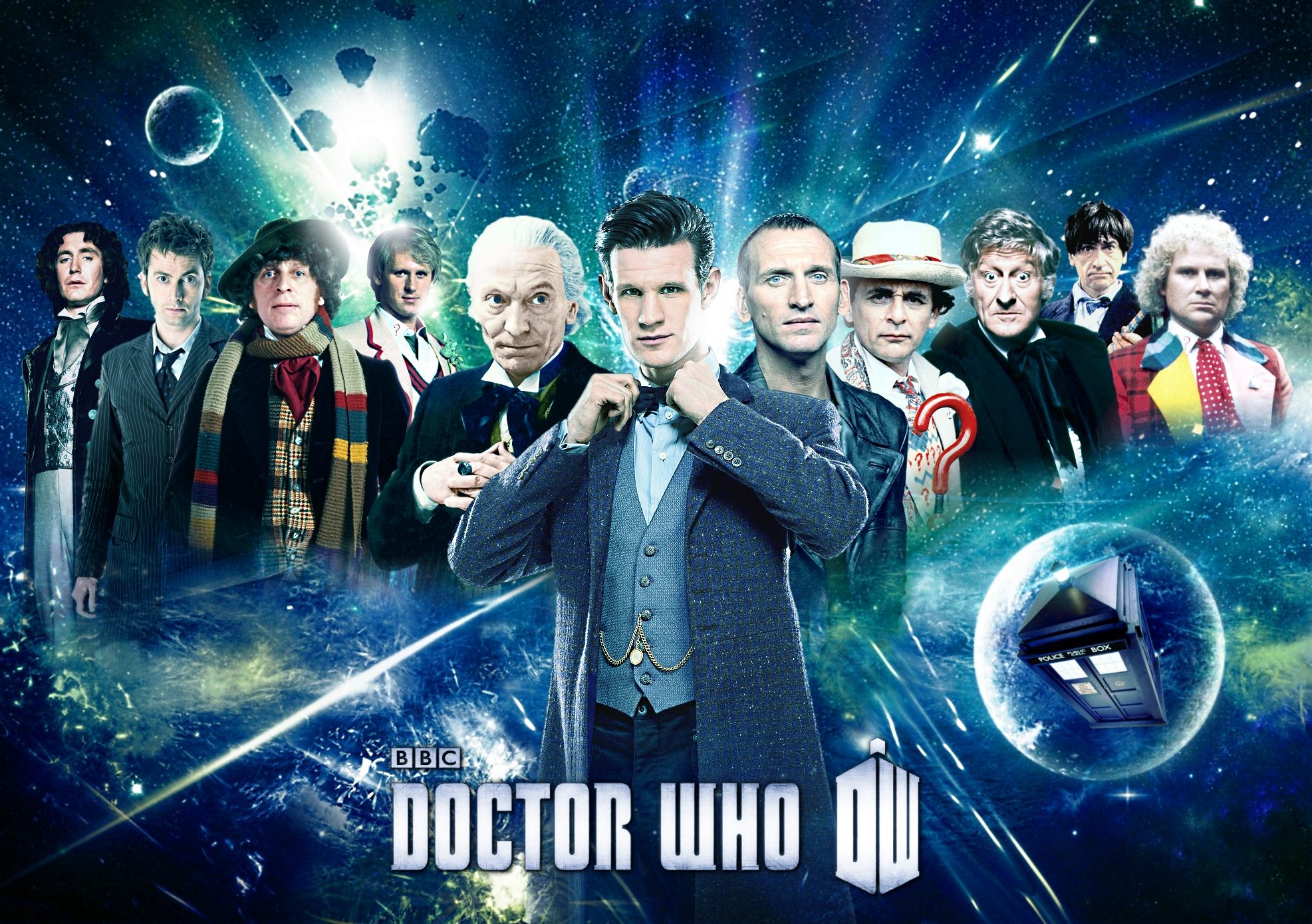 Free Download Doctor Who Eleven Doctors Poster By