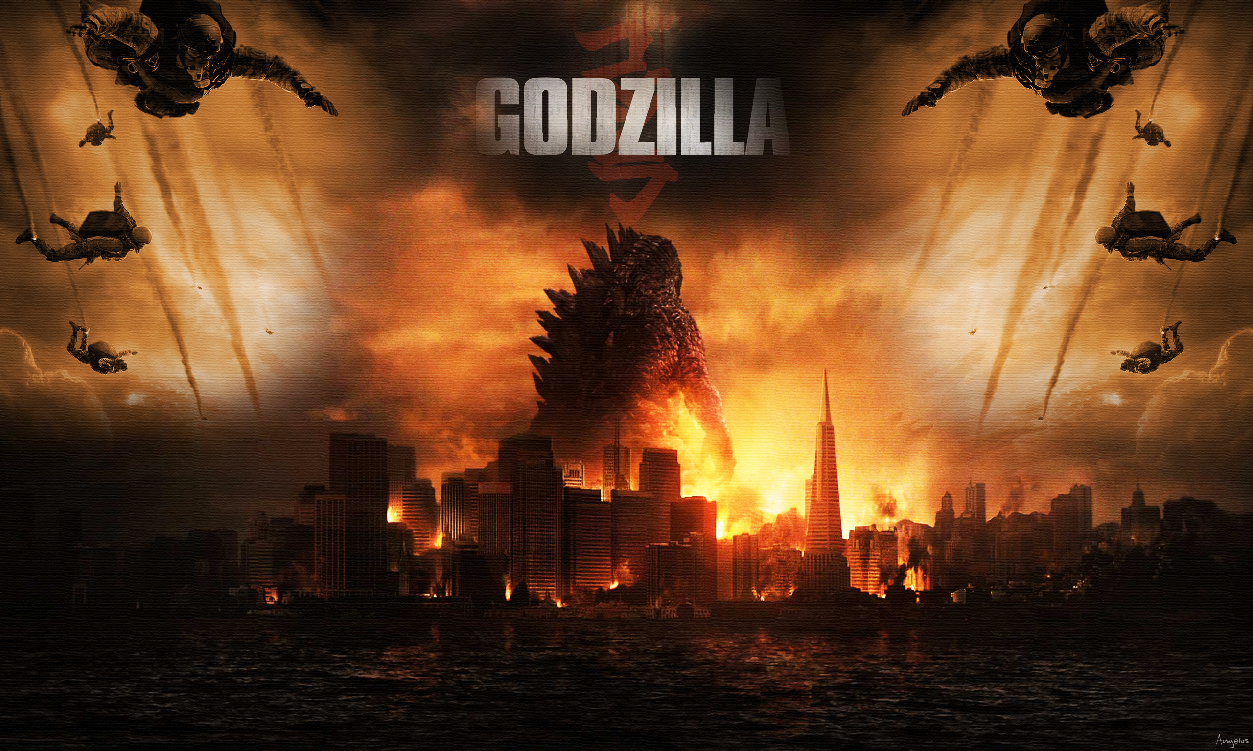 Godzilla 2014 Wallpaper 2 by Angelus23 2560x1536