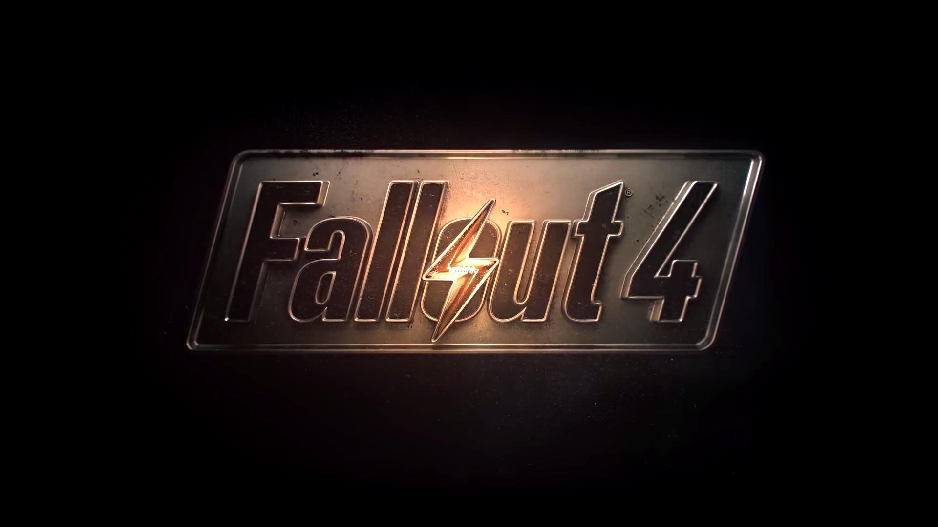 Fallout 4 Wallpaper Logo HD Black BAckground 1920x1080