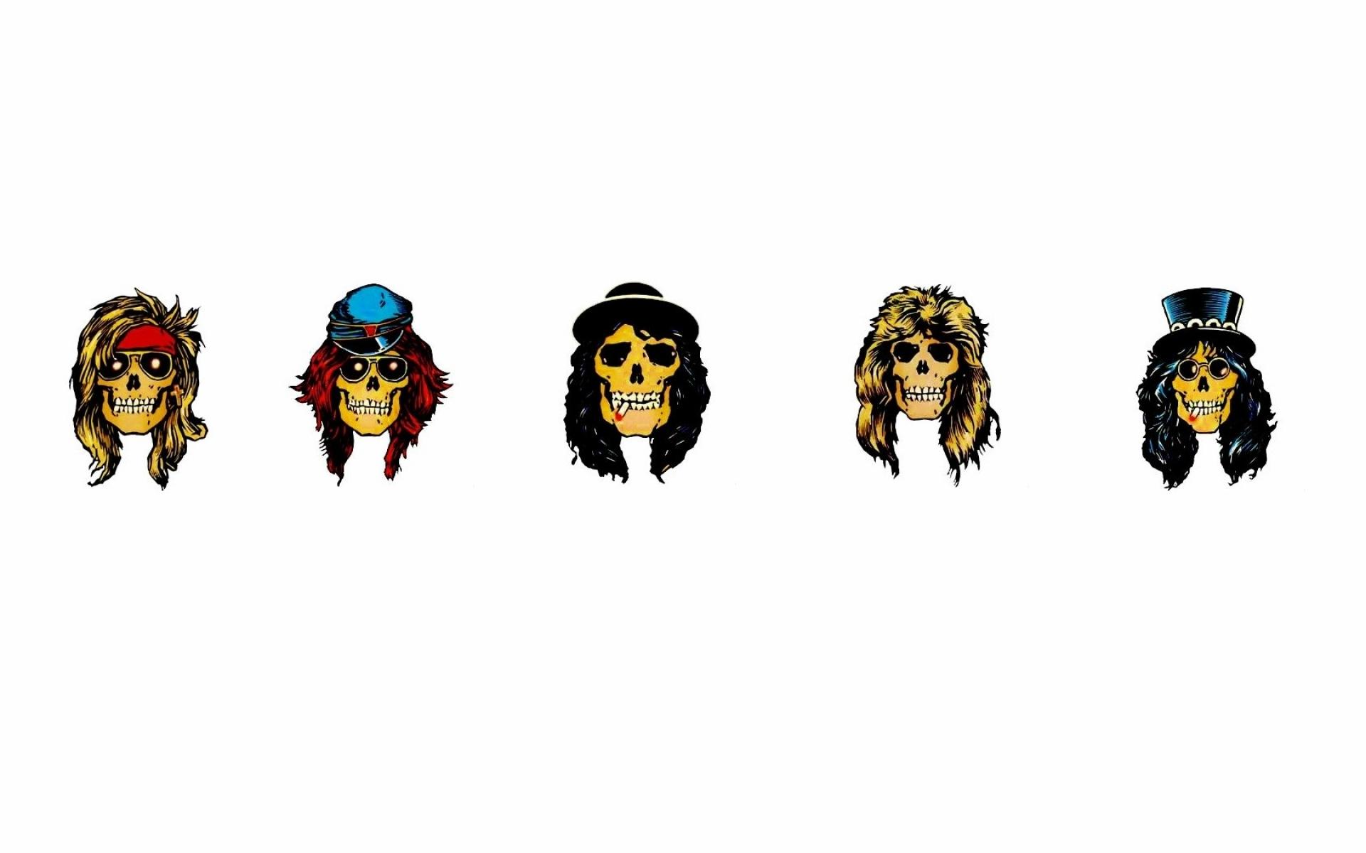 Guns N Roses heavy metal hard rock bands groups album cover logo 1920x1200