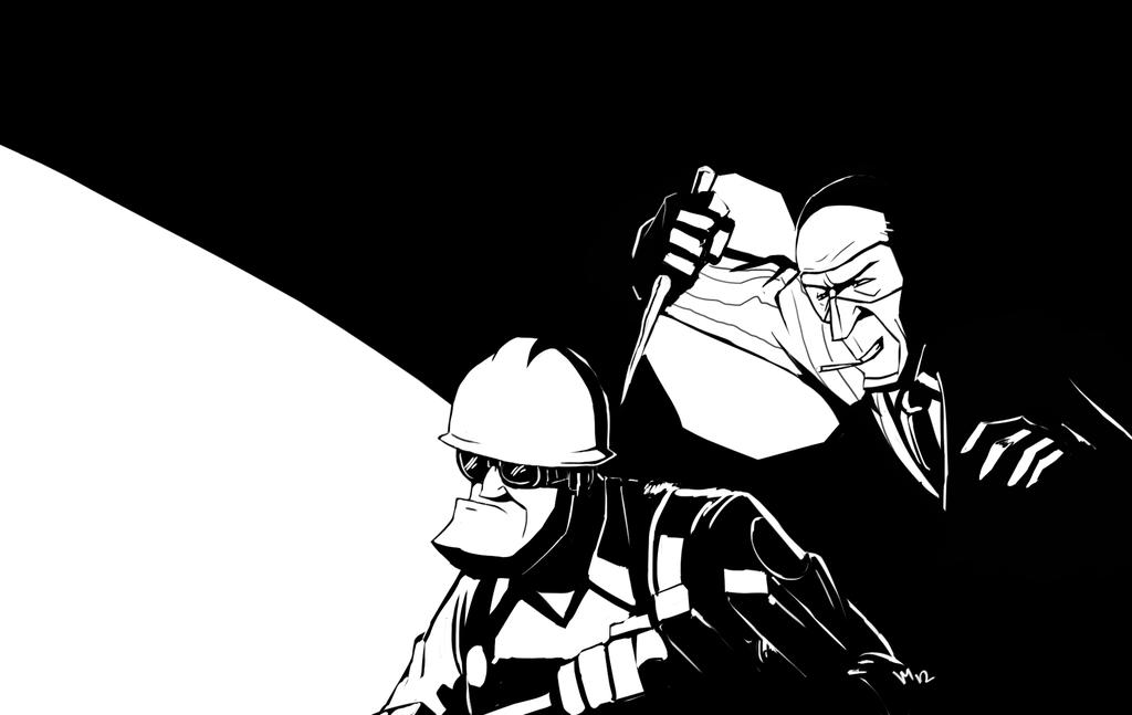 Spy vs Engineer 20 Wallpaper by Vanjamrgan 1024x647
