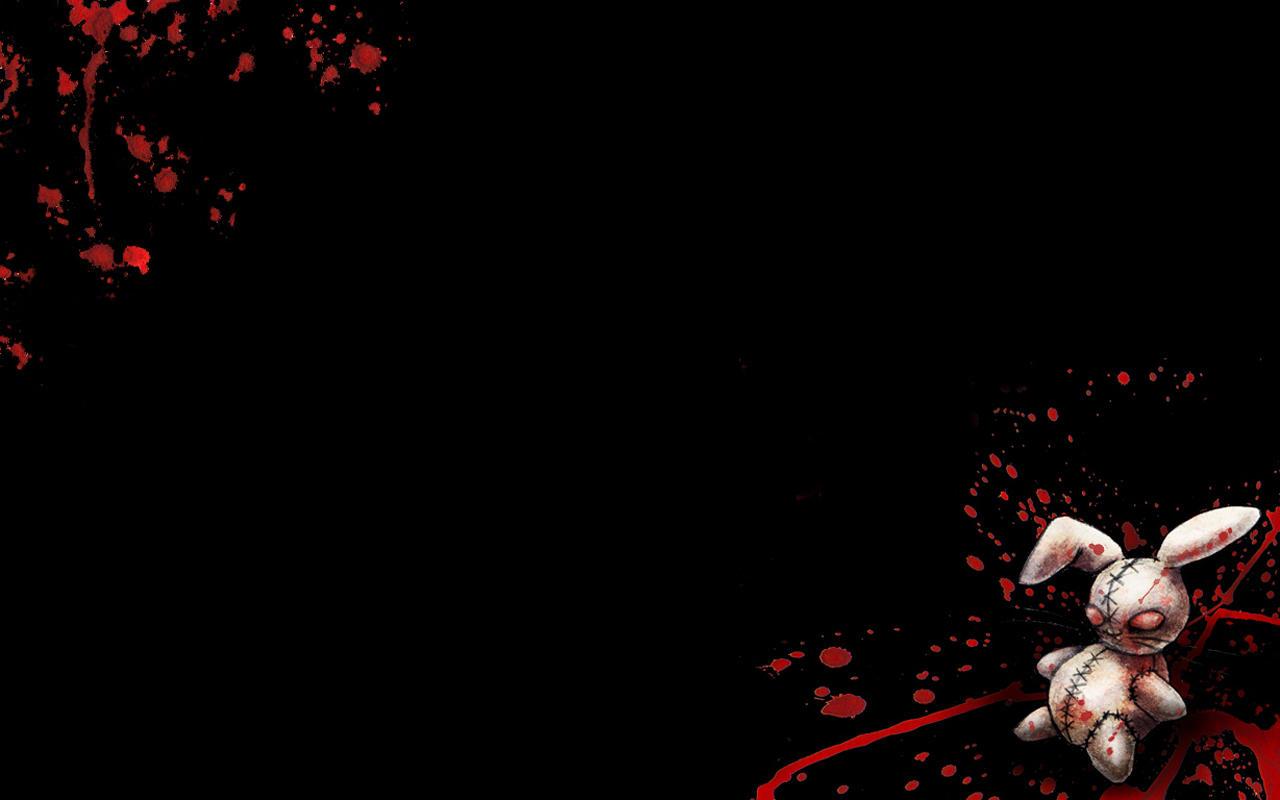 Evil Bunny New Goth Emo MySpace Wallpaper   Blicer 1280x800