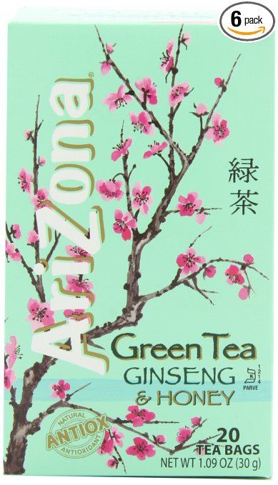 Arizona Green Teas Mint Green Tea Bags Arizona Tea Arizona Drink 389x679
