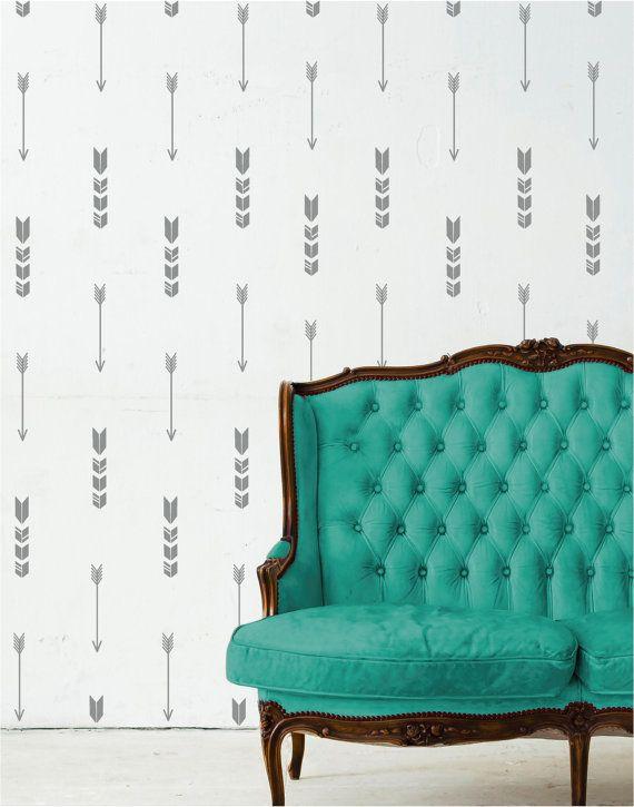 Wall Pattern Arrow Aztec Chevron Wallpaper Vinyl Decor Wall Lettering 570x725