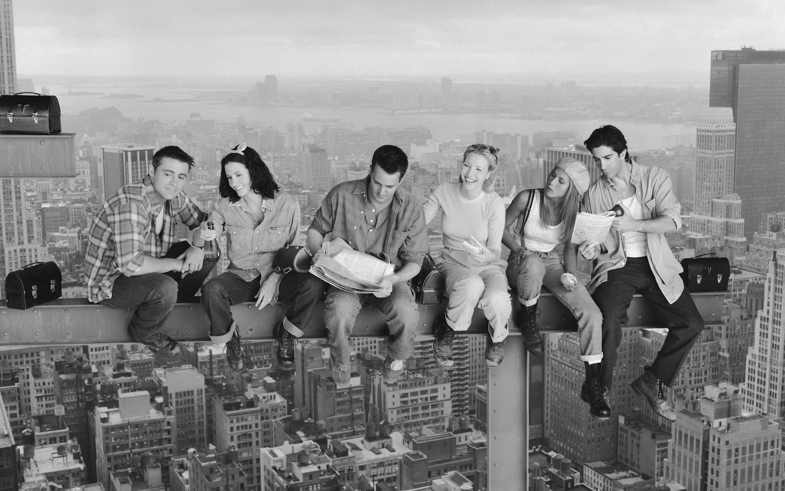 Friends Wallpaper tv series photo Lunch Atop a Skyscraper Photography 1600x1000
