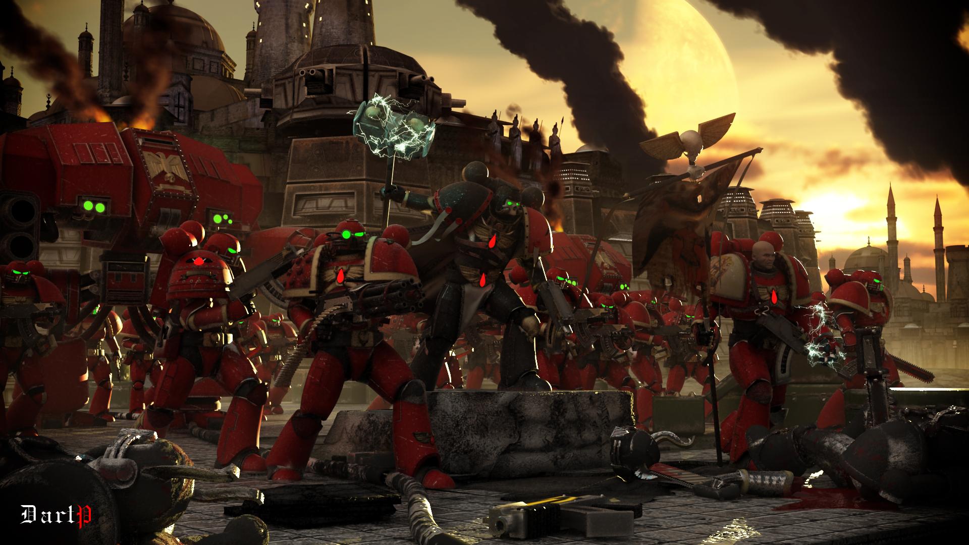 Warhammer 40k death company wallpaper - Warhammer 40k Art About 3d Blood_angels Bolter Chainsword Chaos Dartp