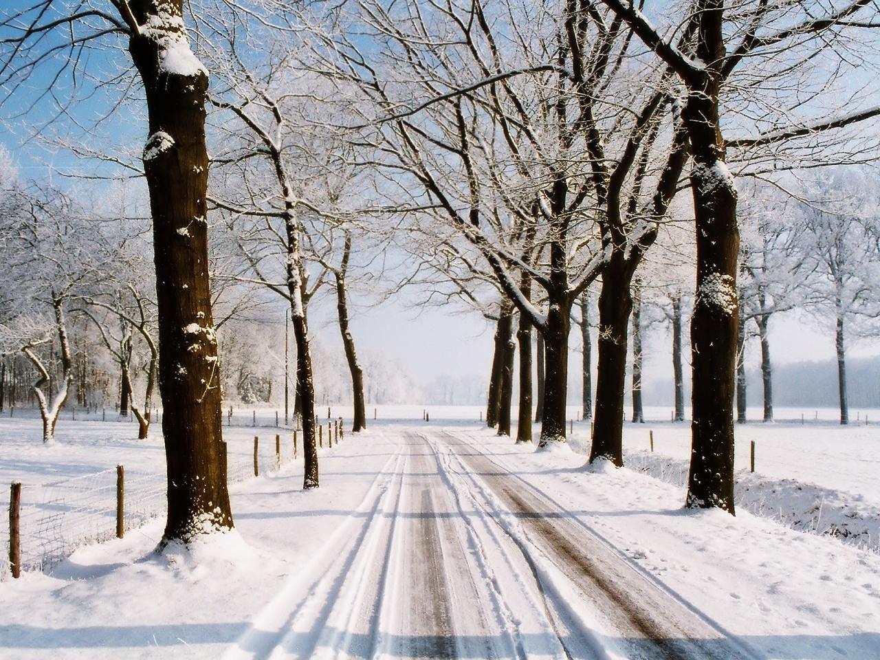 1280x960 Winter country road desktop PC and Mac wallpaper 1280x960