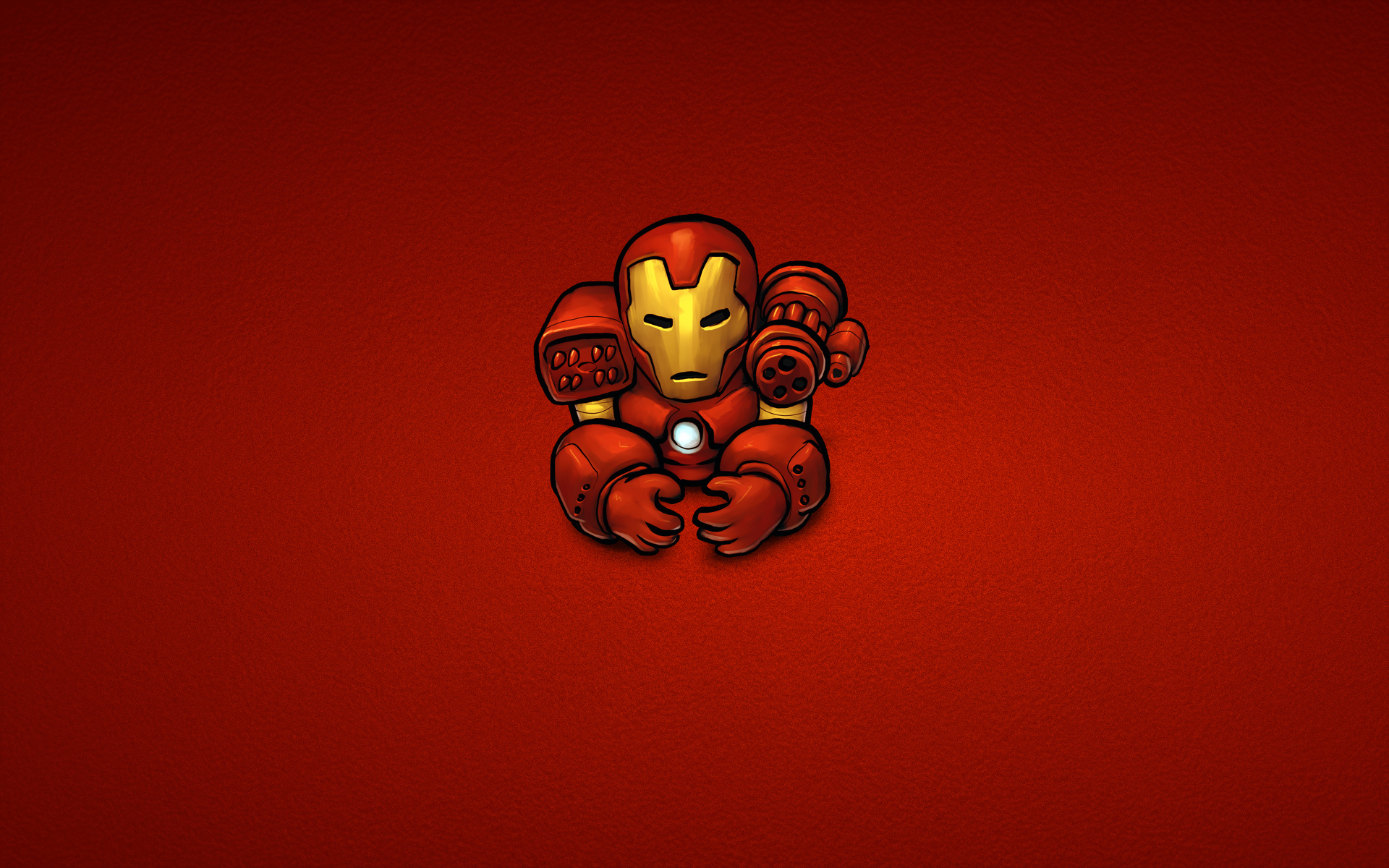 Ironman Ironman Comics Marvel Stahl minimalistisch rot 1920x1200