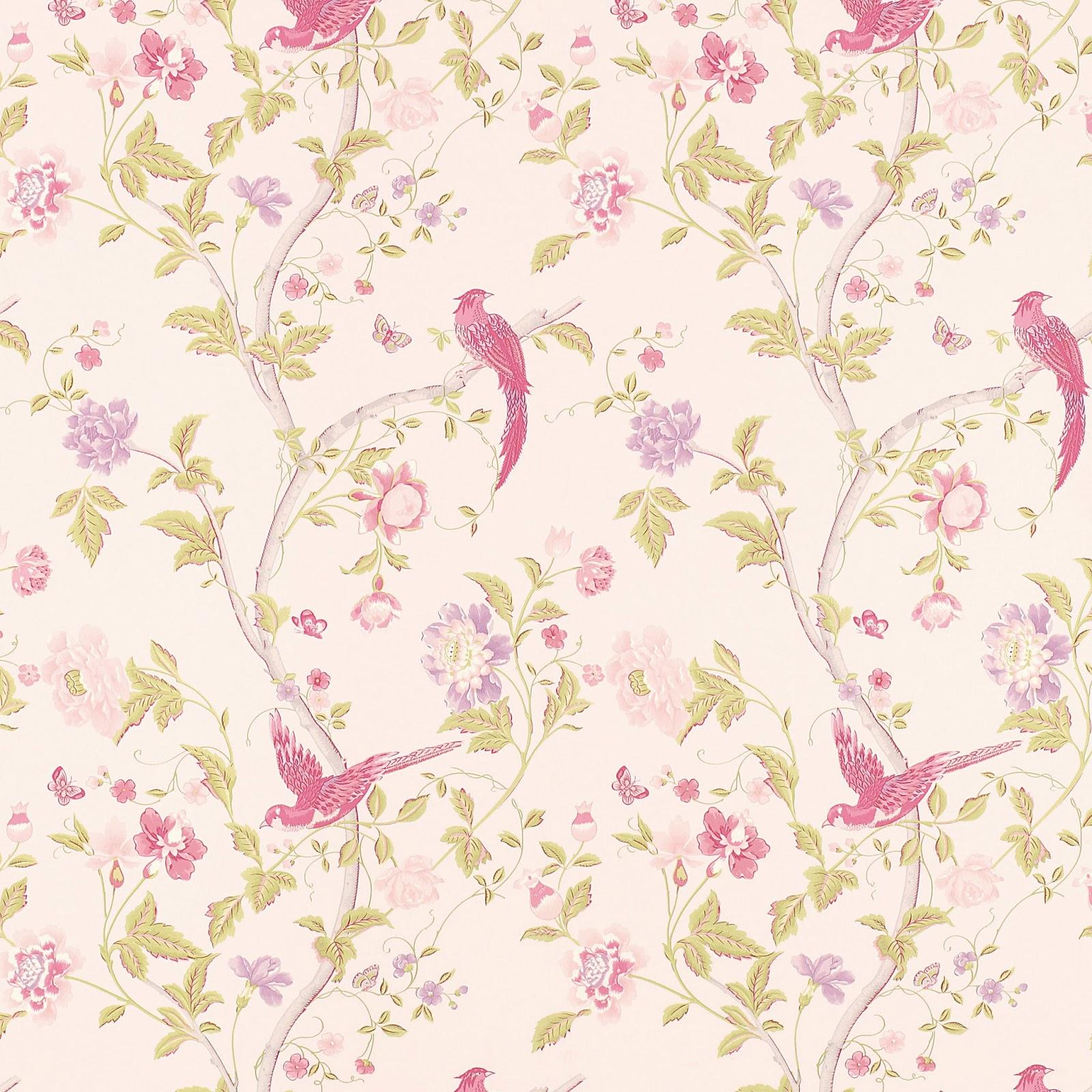 Floral Wallpaper Vintage Floral Wallpaper Pink Floral Wallpaper 1600x1600