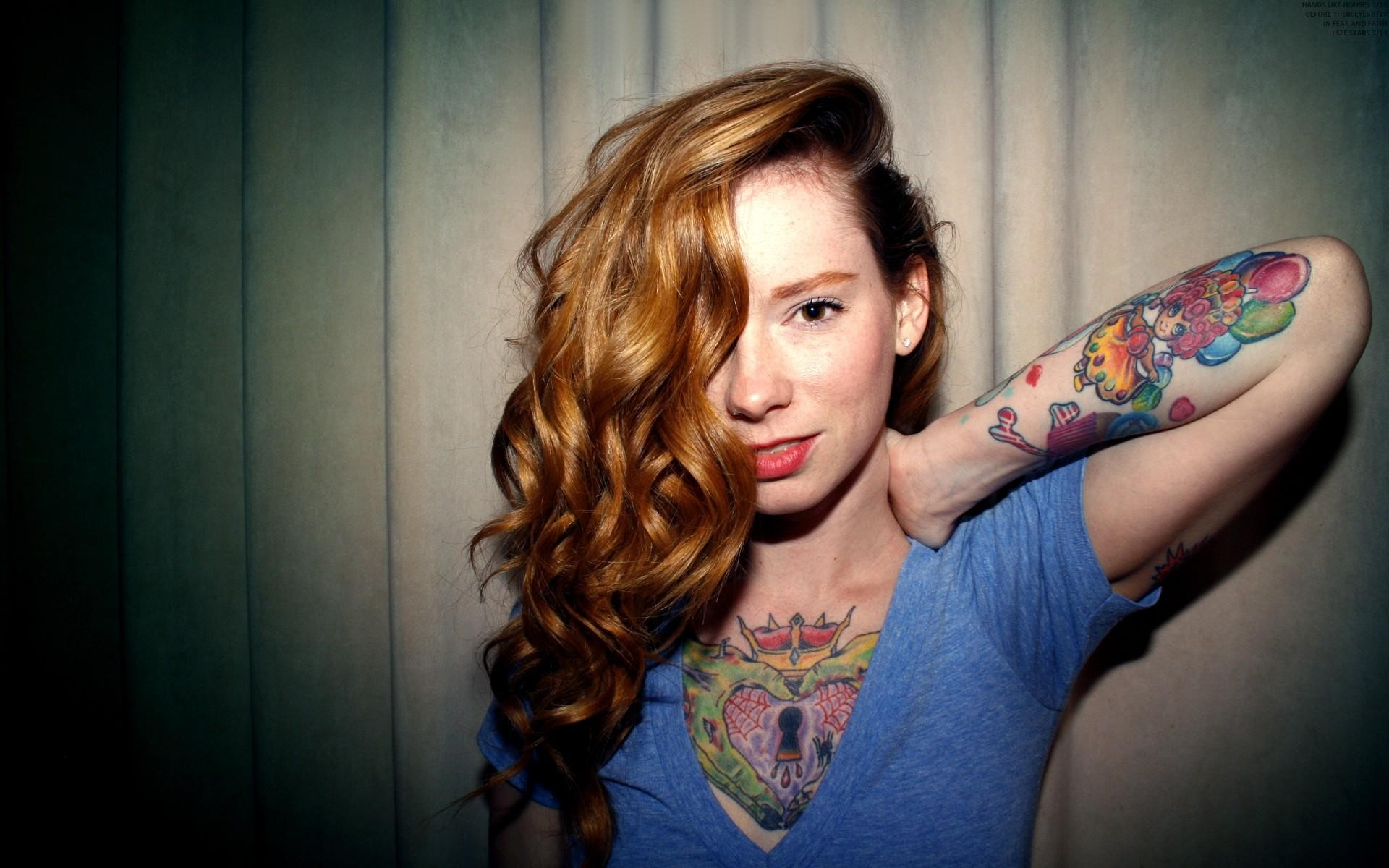 Tattoos Women Wallpaper 1920x1200 Tattoos Women Redheads Hattie 1920x1200