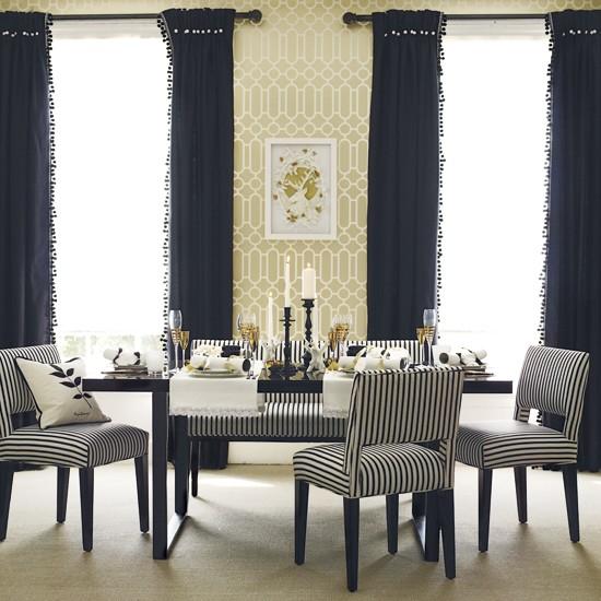 Classic dining room Modern dining room Geometric wallpaper Image 550x550