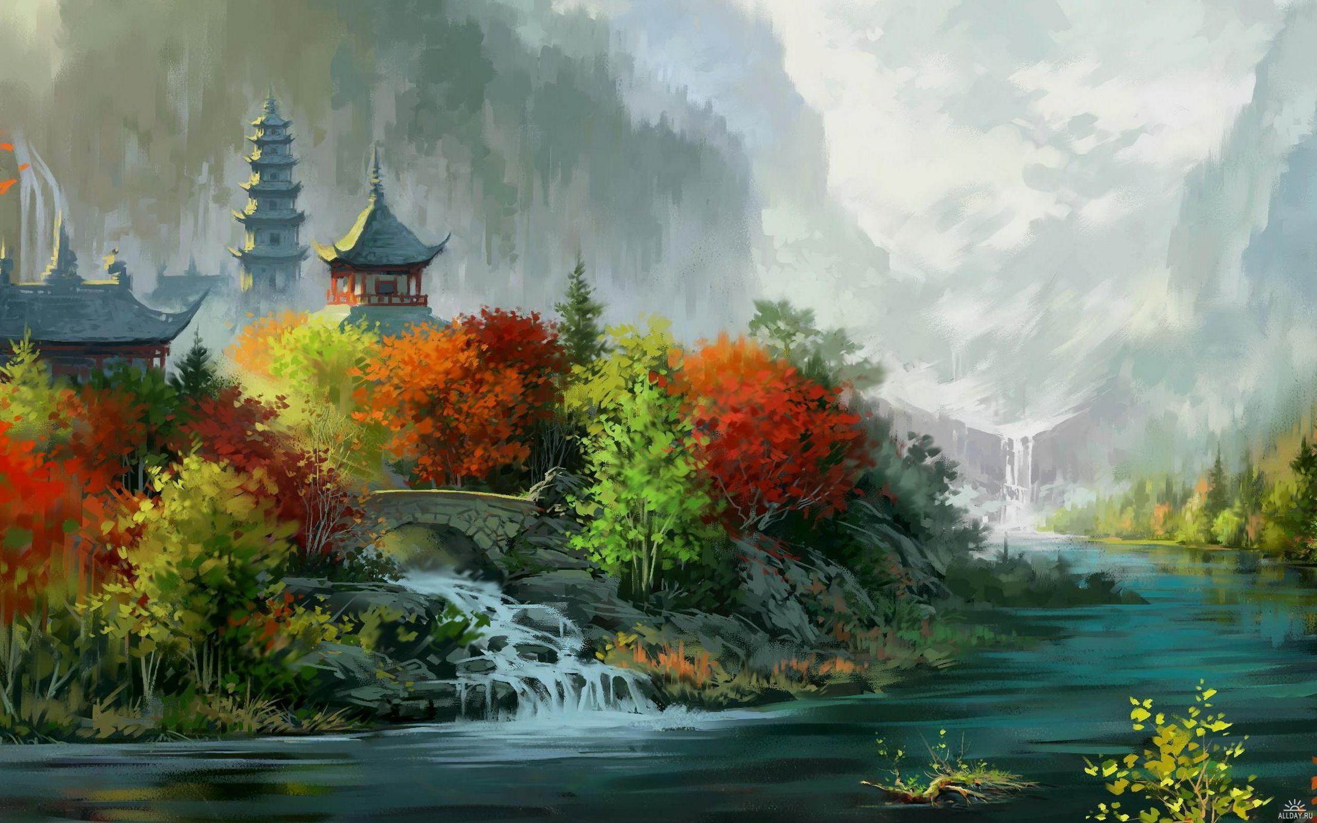 Landscape Painting Wallpapers   Top Landscape Painting 2560x1600