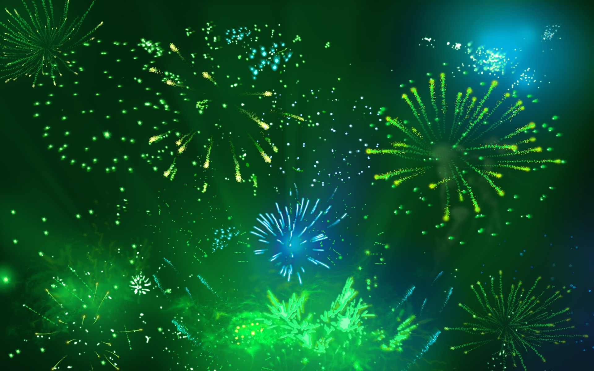 desktop wallpaper of cool green fireworks computer desktop 1920x1200