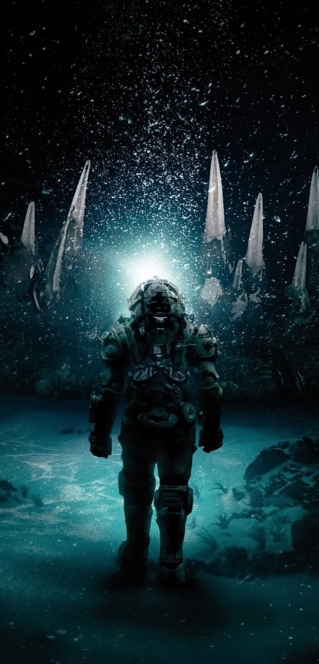 Download 1080x2246 Underwater 2020 Horror Movies Suit Wallpapers 1080x2246