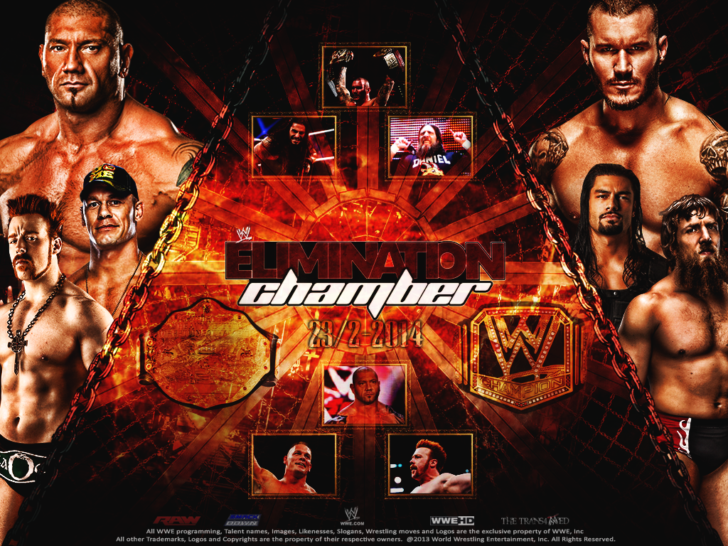WWE Elimination Chamber 2014 Wallpapers 1024x768