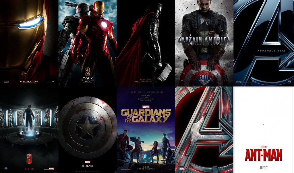 MARVEL Cinematic Universe Teaser Posters 2008 2015 by 1024x603