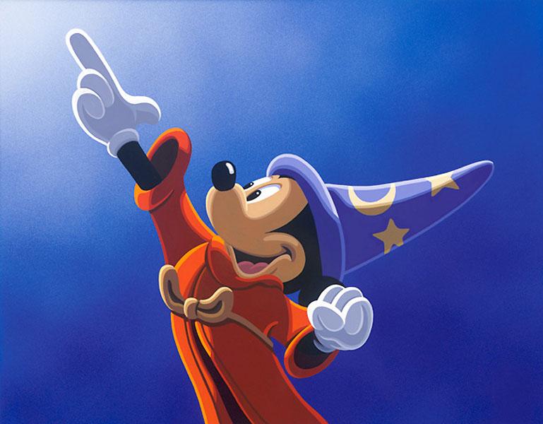 Sorcerer Mickey Wallpaper - WallpaperSafari  Sorcerer Mickey...