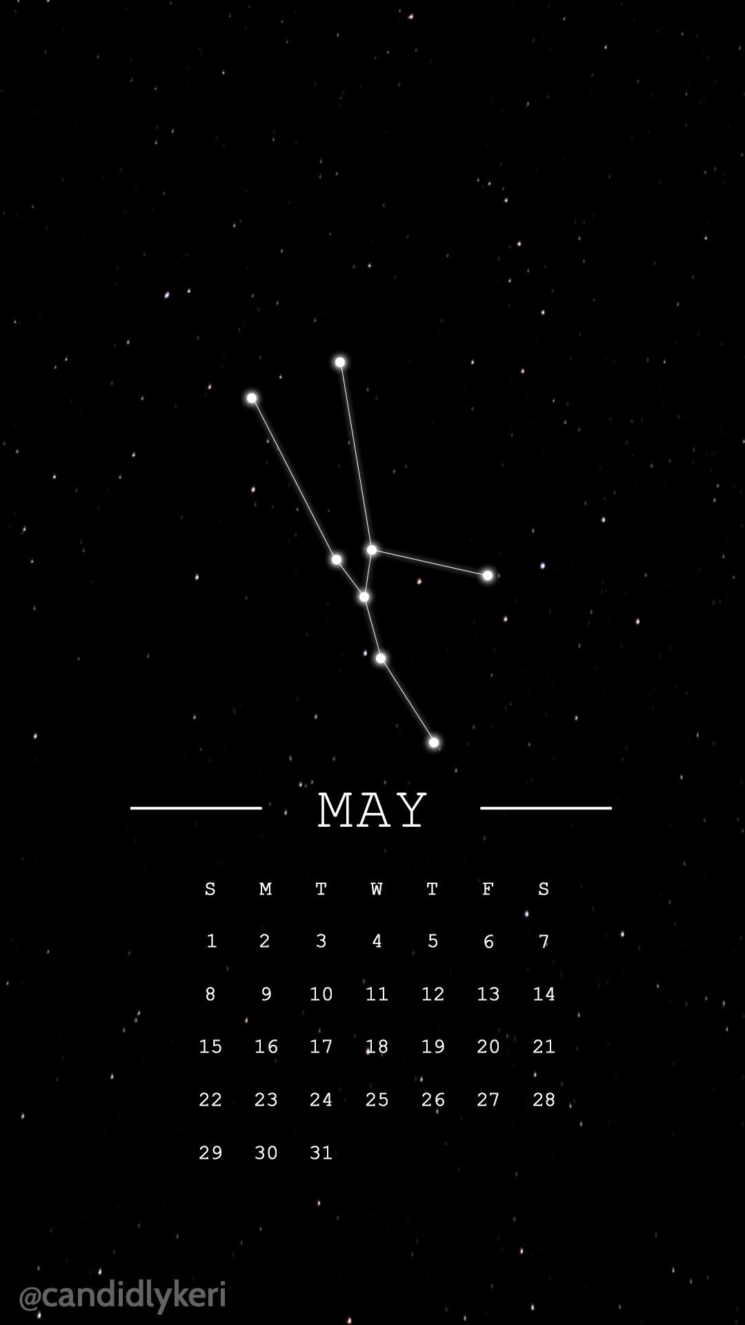 Taurus constellation horoscope may 2016 calendar wallpaper 1080x1920