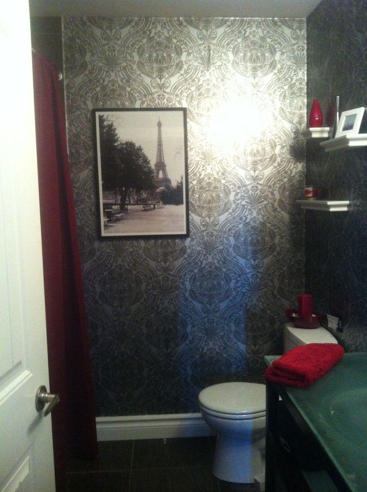 marvellous black silver bathroom ideas | White and Silver Bathroom Wallpaper - WallpaperSafari
