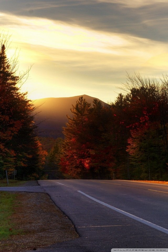 Road In New Hampshire 4K HD Desktop Wallpaper for 4K Ultra HD 640x960